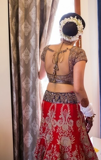 sexy saree back