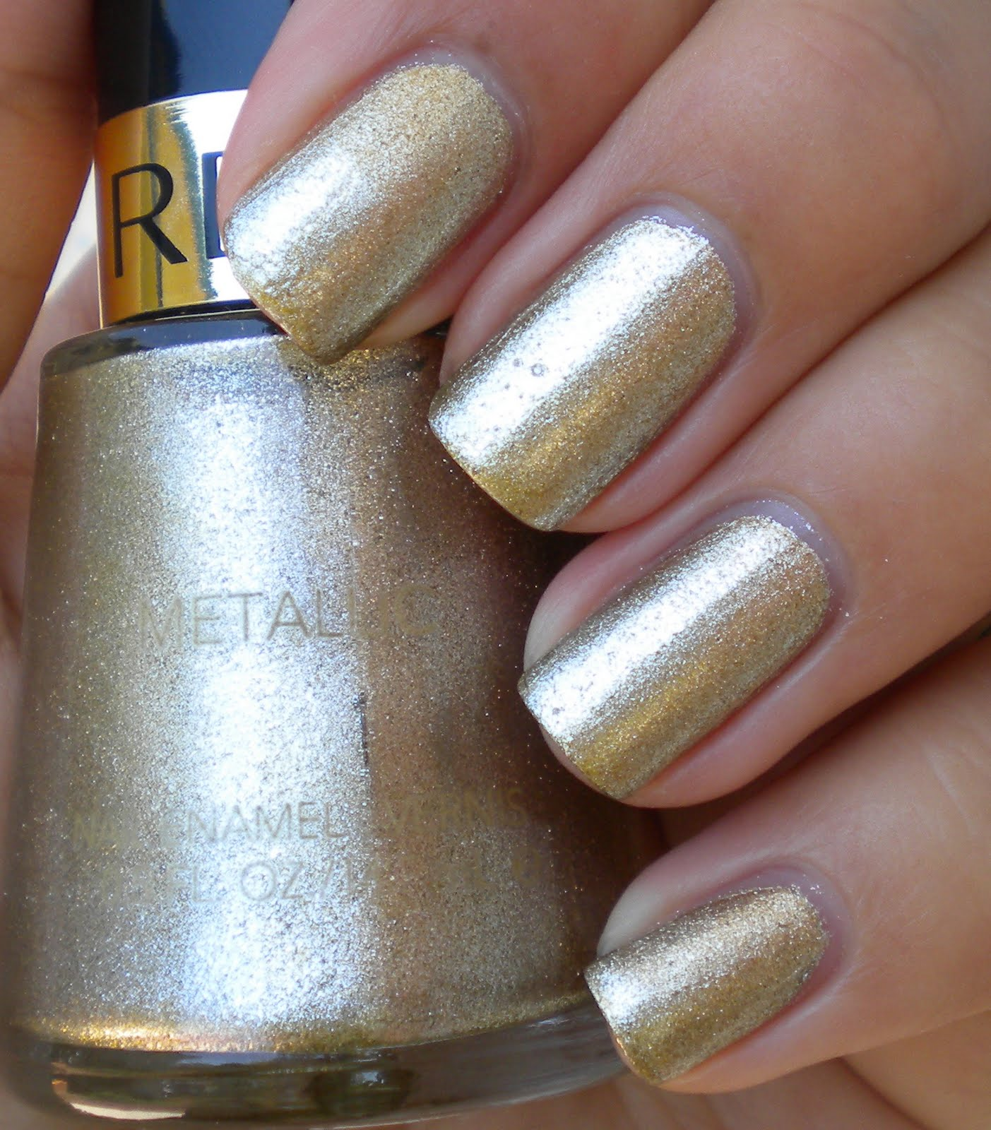 Metallic Gold Nail Polish: Smile For The Little Things: Revlon Gold Coin