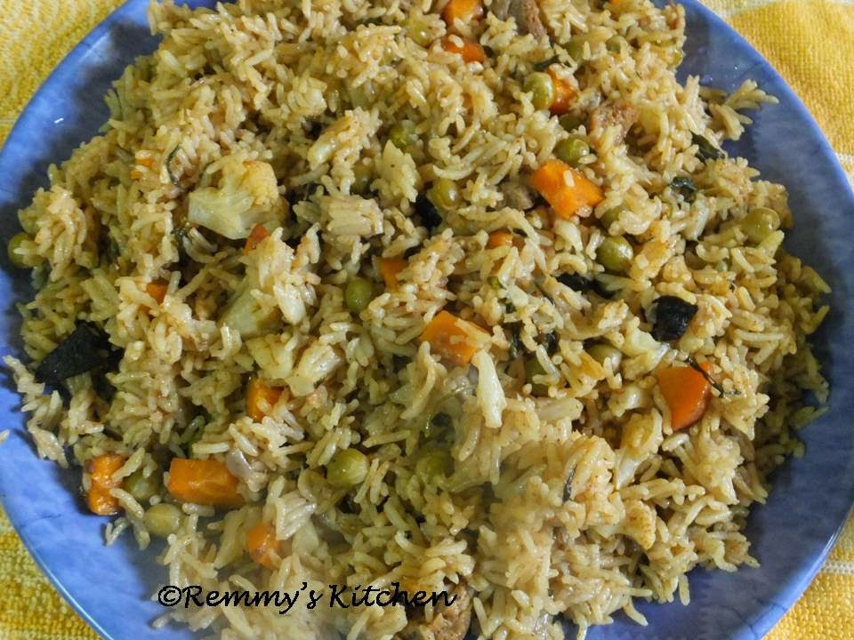 Vegetable biriyani - Easy method
