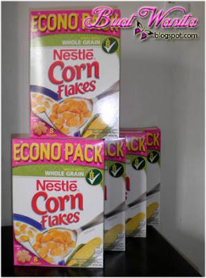 Gunakan nestle cornflakes untuk cornflakes madu yang sedap