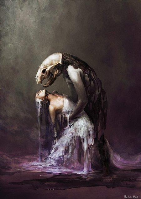 ryohei hase ilustração japones surreal sombrio sensual