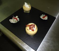 Soupe de Potiron Spuma et Tartar de Coquilles St. Jacques