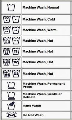 label simbol cara mencuci pakaian