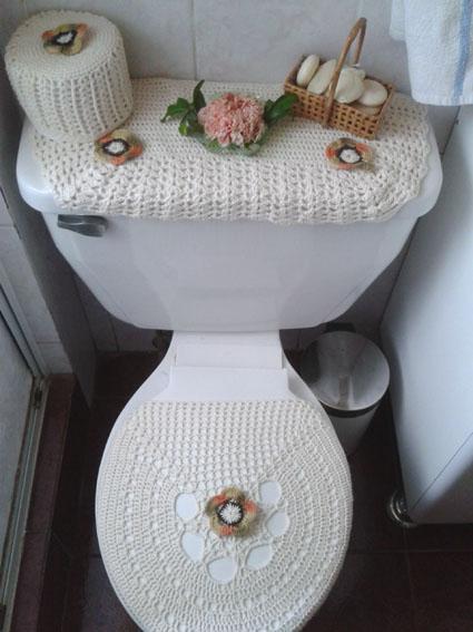 Set De Baño Tejido A Mano:Tejidos De Crochet Para Bano