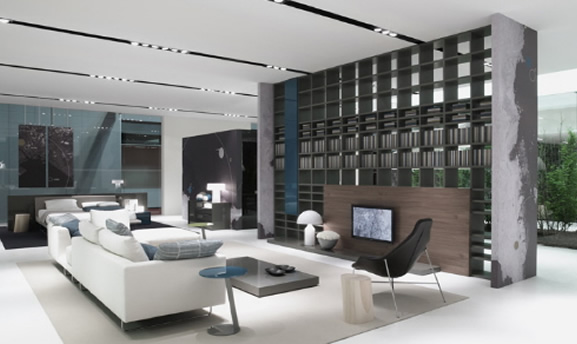 White modern furniture furniture for Living muebles modernos