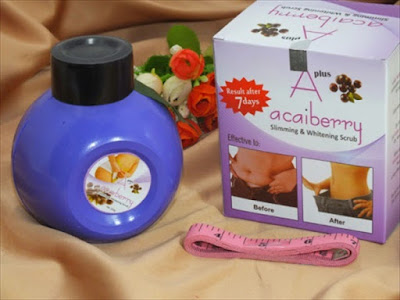 Scrub Pelangsing A+ Acai Berry Original Slimming n Whiteing