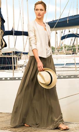 Massimo Dutti mujer verano 2013 falda larga