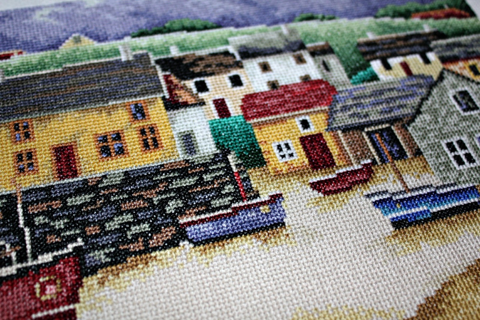 вышивка рыбацкий городок