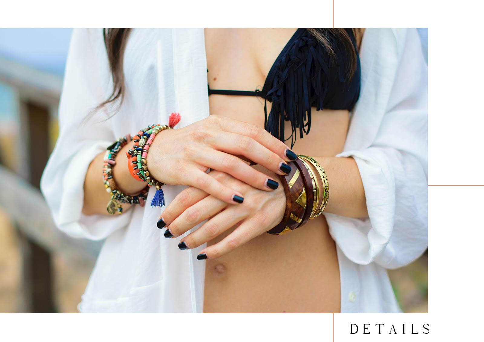 Look de playa estilo boho chic