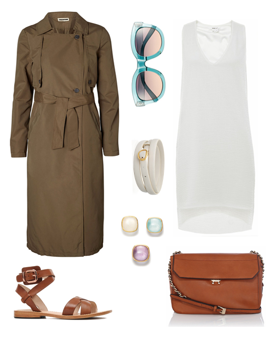 The new way to wear trench, an outfit idea