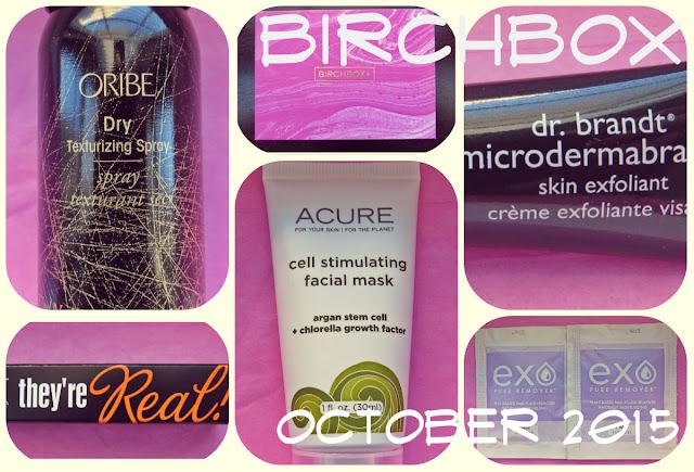 October 2015 Birchbox Review