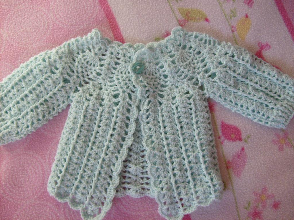 Chaleco A Crochet Para Bebe De 0 A 3 Meses