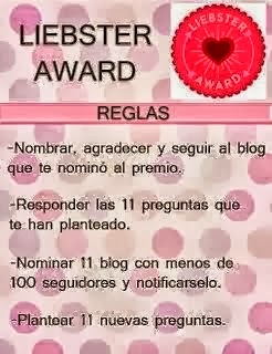 liebster award reglas