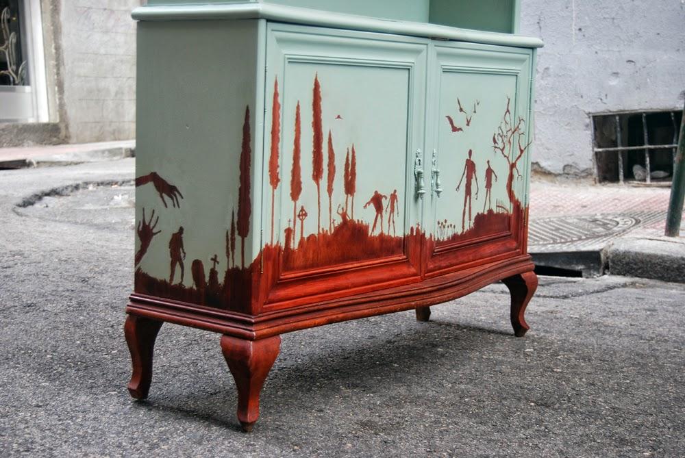 La tapicera el mueble de los muertos vivientes Muebles antiguos pintados a mano
