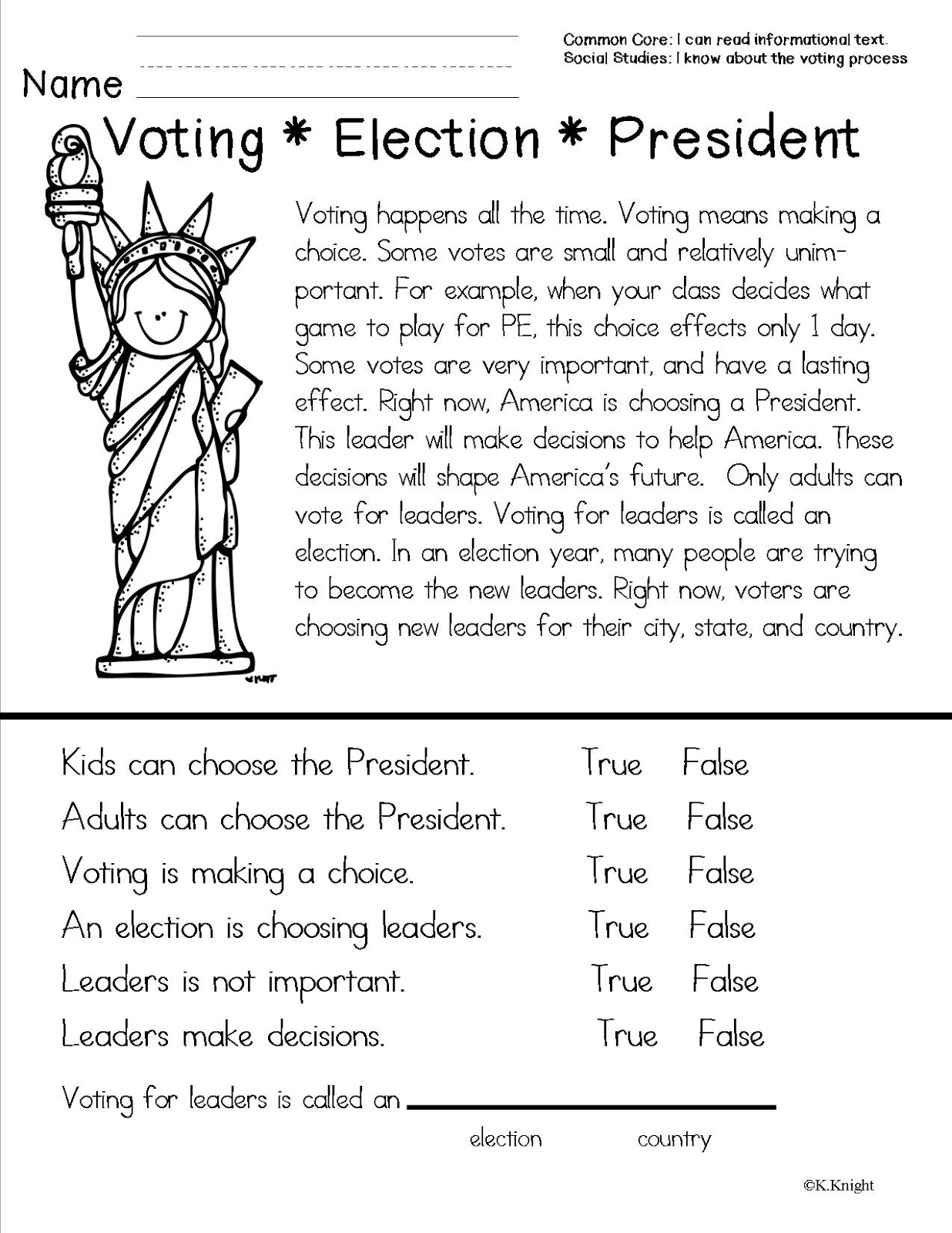 worksheet Social Studies Worksheets For 1st Grade american symbols teacher to the core mock election freebie yes please from core