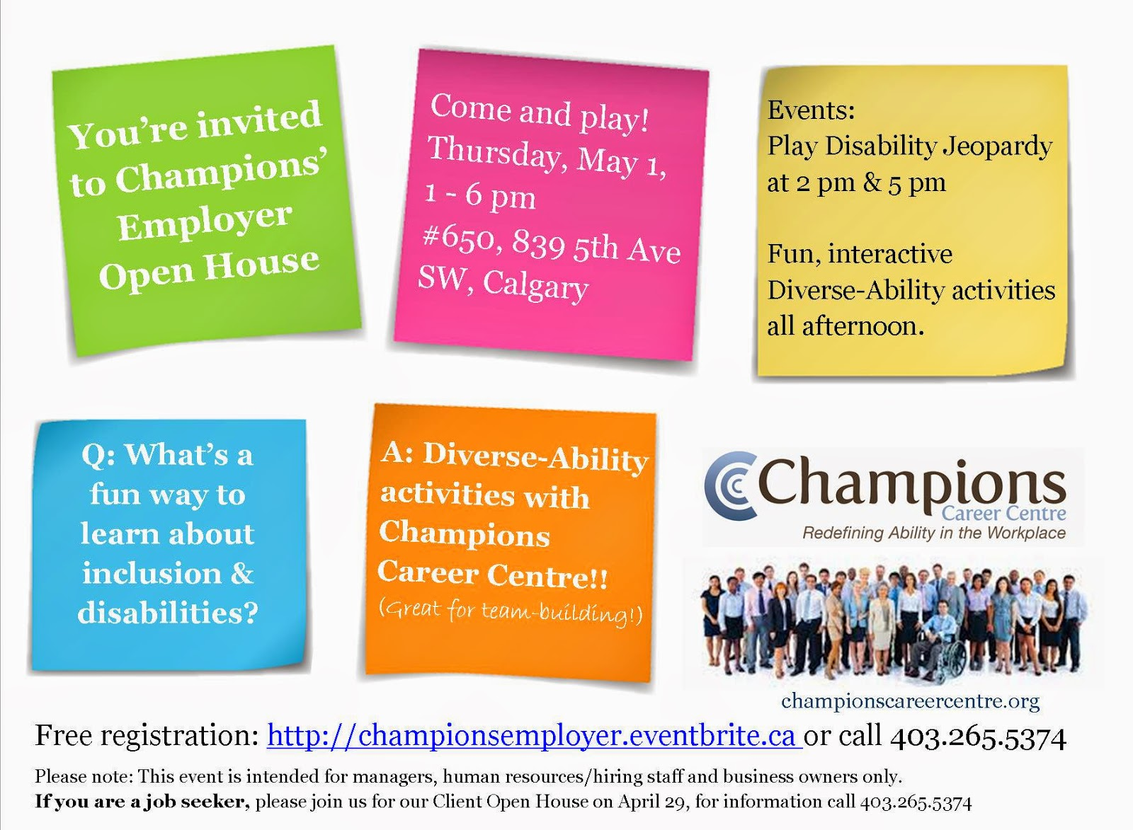 Champions Employer Open House May 1