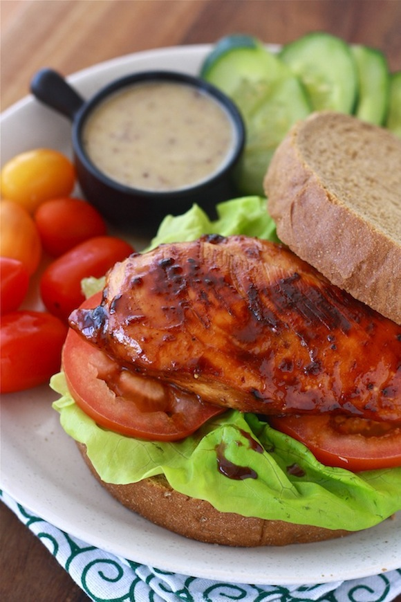 Honey Glazed Chicken Sandwich by SeasonWithSpice.com