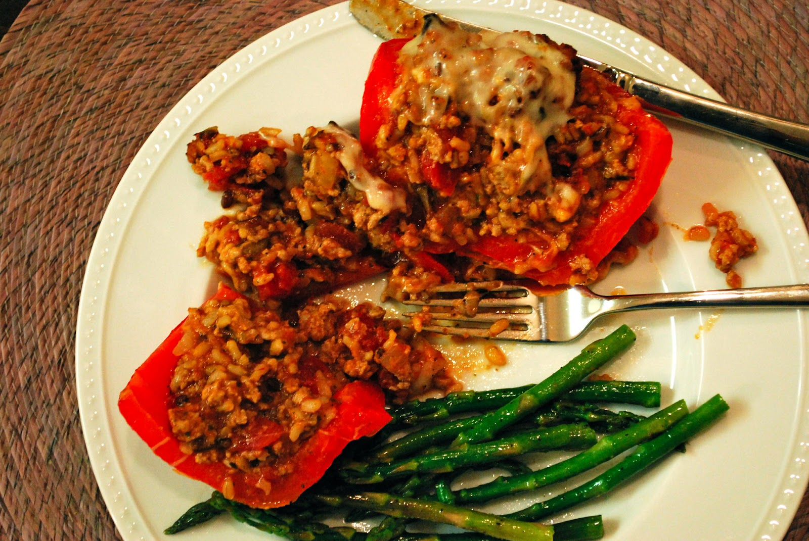 Turkey and Rice Stuffed Peppers | Bevy Richmond