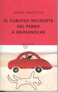 Portada del libro donde aparece el título sobre un fondo rojo y en el plano inferior un dibujo infantil de un coche rojo y la silueta de un perro muerto