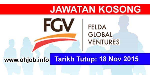 Jawatan Kerja Kosong Felda Global Ventures (FGV) logo www.ohjob.info november 2015