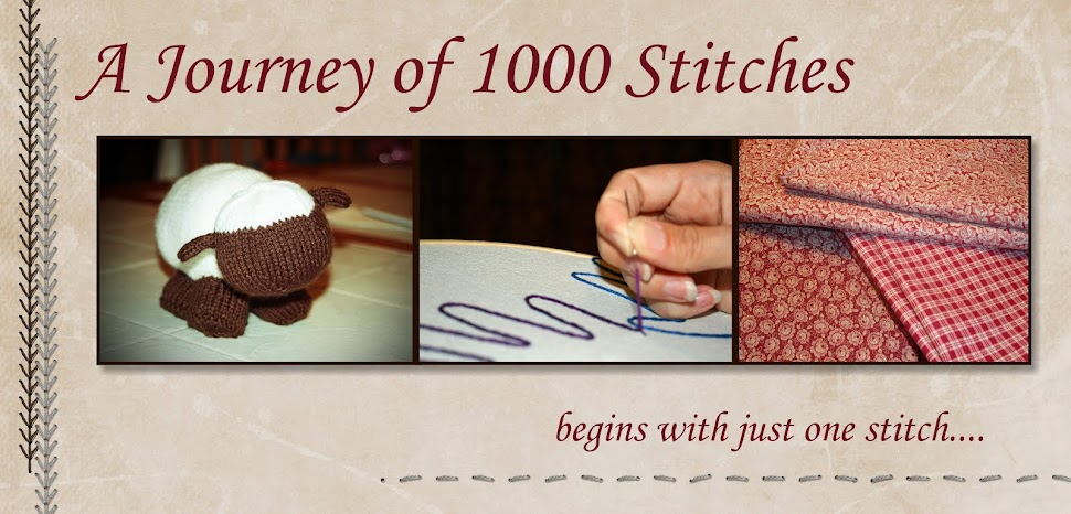 A journey of 1000 stitches begins with just one ....