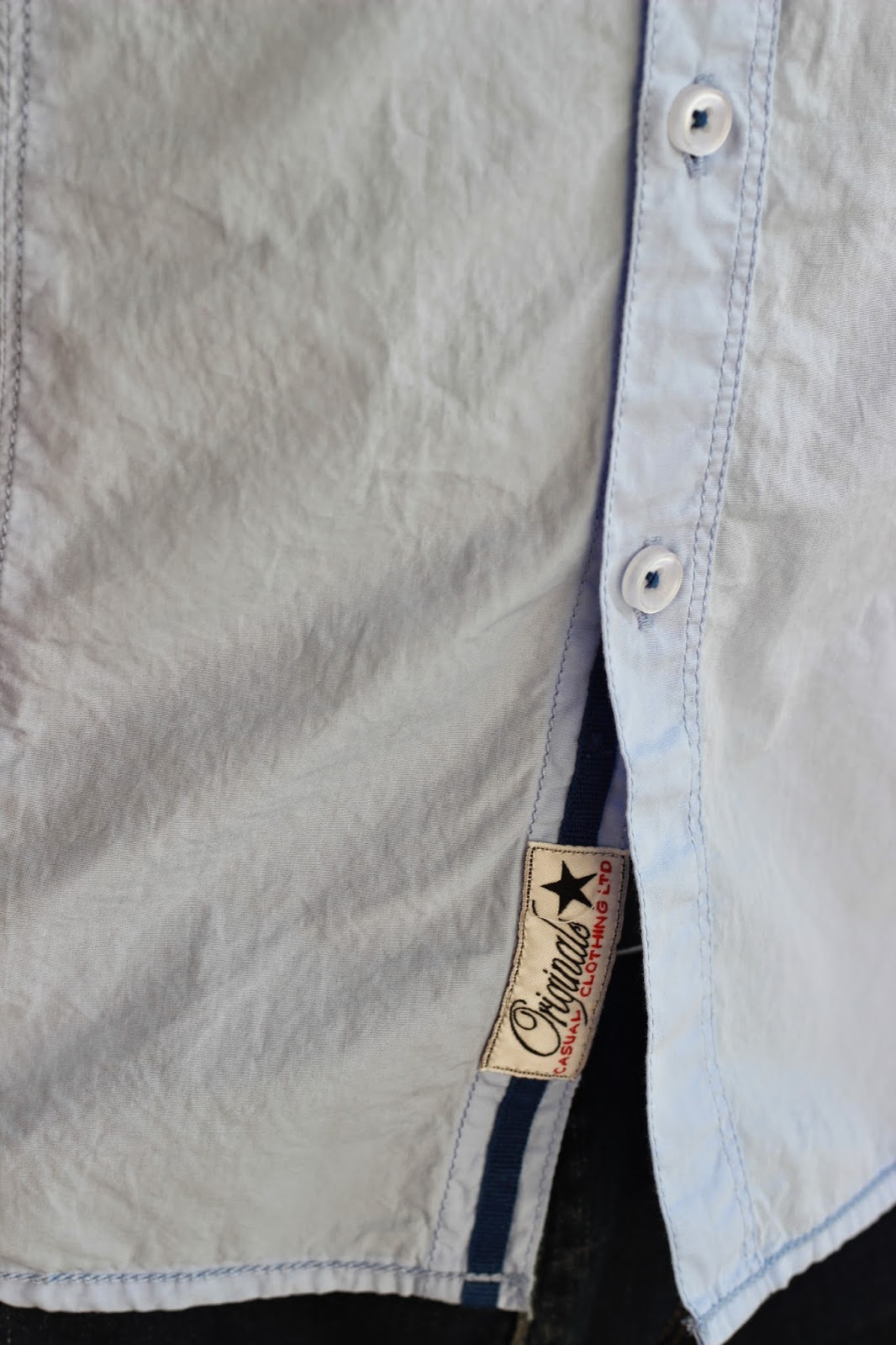 Powder Blue Cotton Button-Down Shirt From MAX Fashions