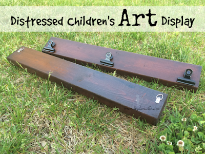 How to distress wood to create a children's art display!