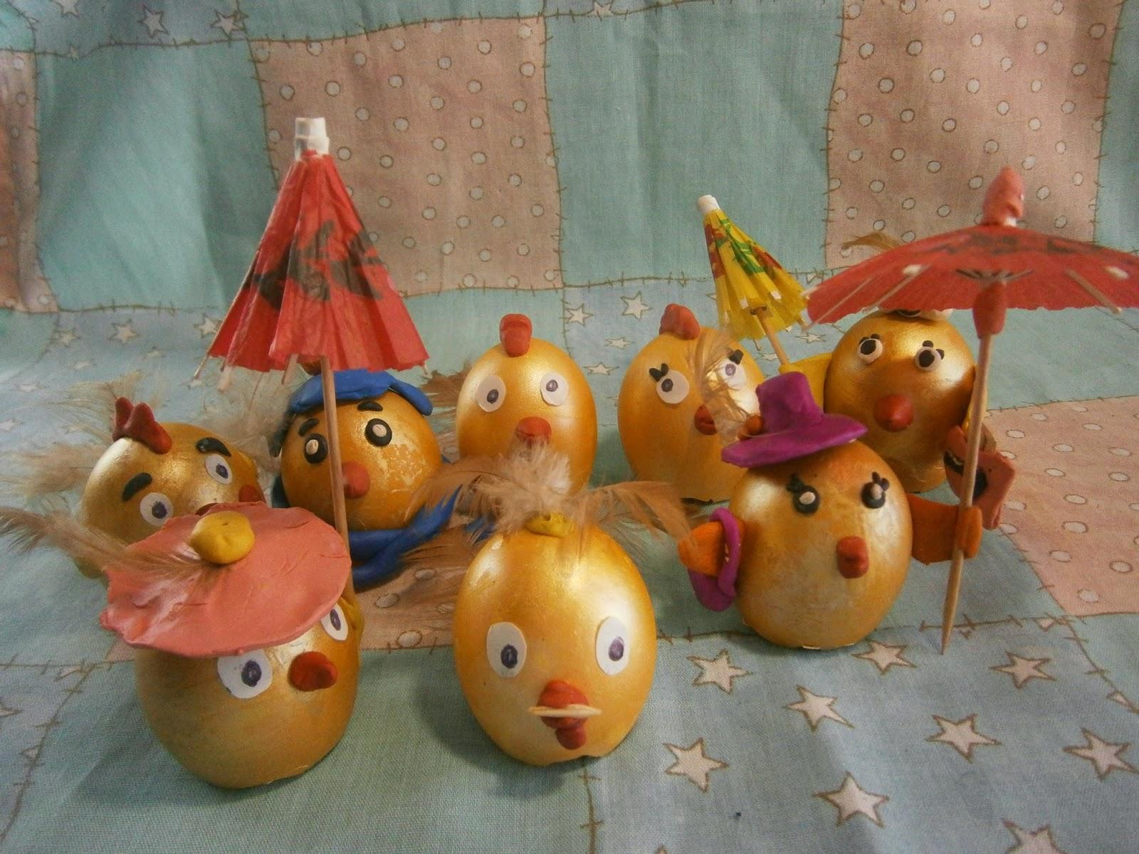 поделка яйца цыплята пасха