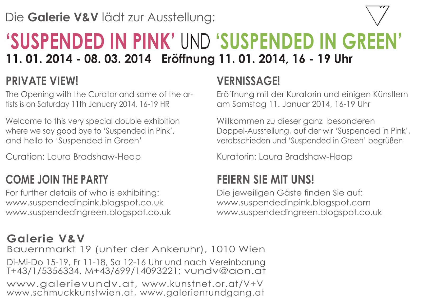 EXPO 'Suspended in GREEN' - V&V Gallery, Vienna (AT) - 11 Janv. - 8 Mars 2014 dans Autriche (AT) V&V2
