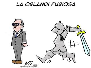 Orlandi, Zanetti, agenzia delle entrate, concorsi pubblici, vignetta satira