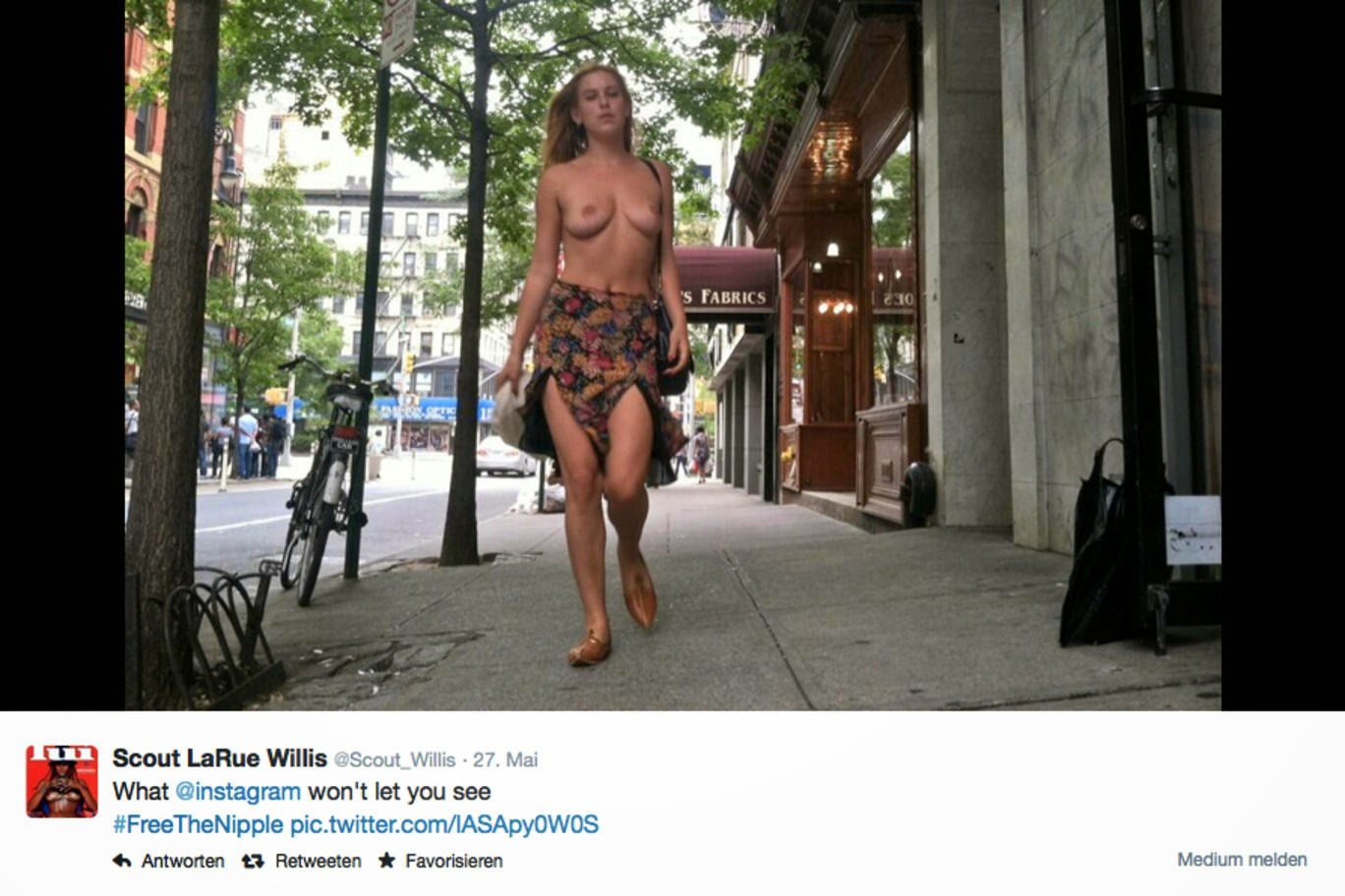 Celebrity Naked Protest in NYC