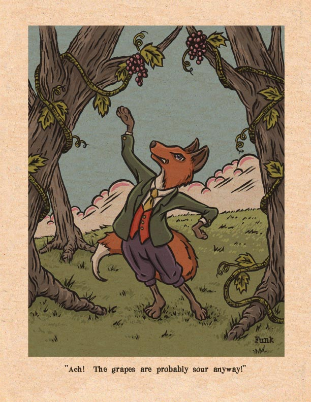 The fox the grapes aesops fables caroldoey