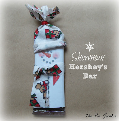 Christmas snowman Hershey bar