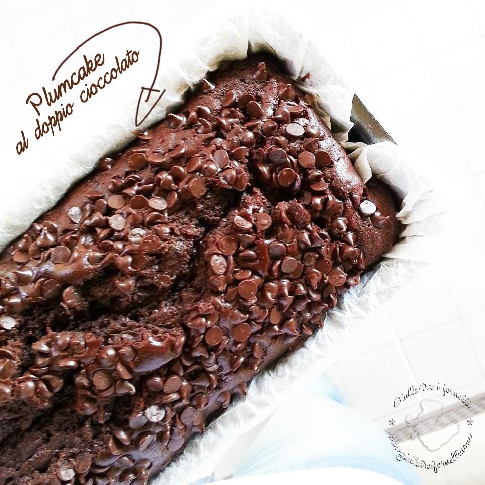Double chocolate plumcake - plumcake al doppio cioccolato