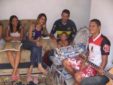 Visita da UMP a Carlos André, Cristielly, Darlis e Daiana