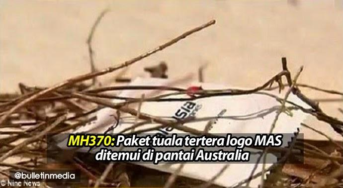 MH370 Paket tuala tertera logo MAS ditemui di pantai Australia