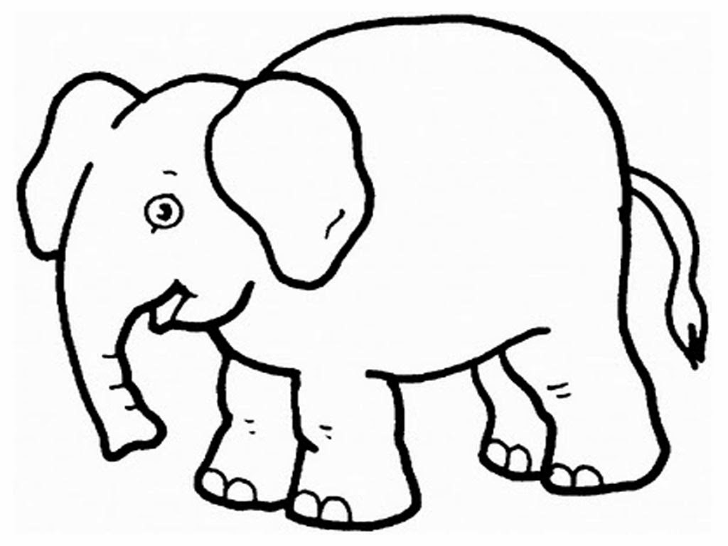 Colour Drawing Free HD Wallpapers: Elephant For Kid Coloring Page ...