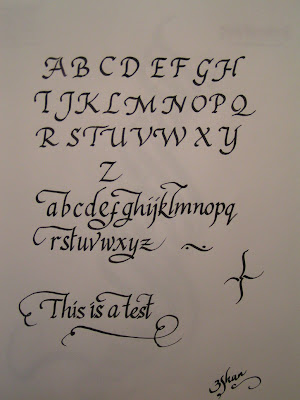 Italic Calligraphy