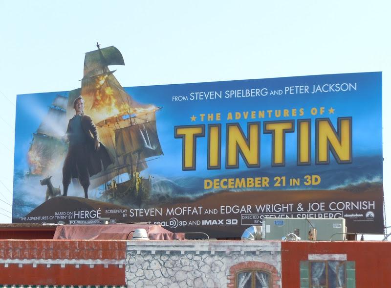 Tintin ship billboard