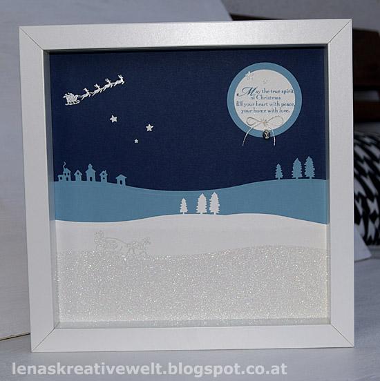 Lena S Kreative Welt Weihnachtsdeko Winter Wonderland Im Bilderrahmen