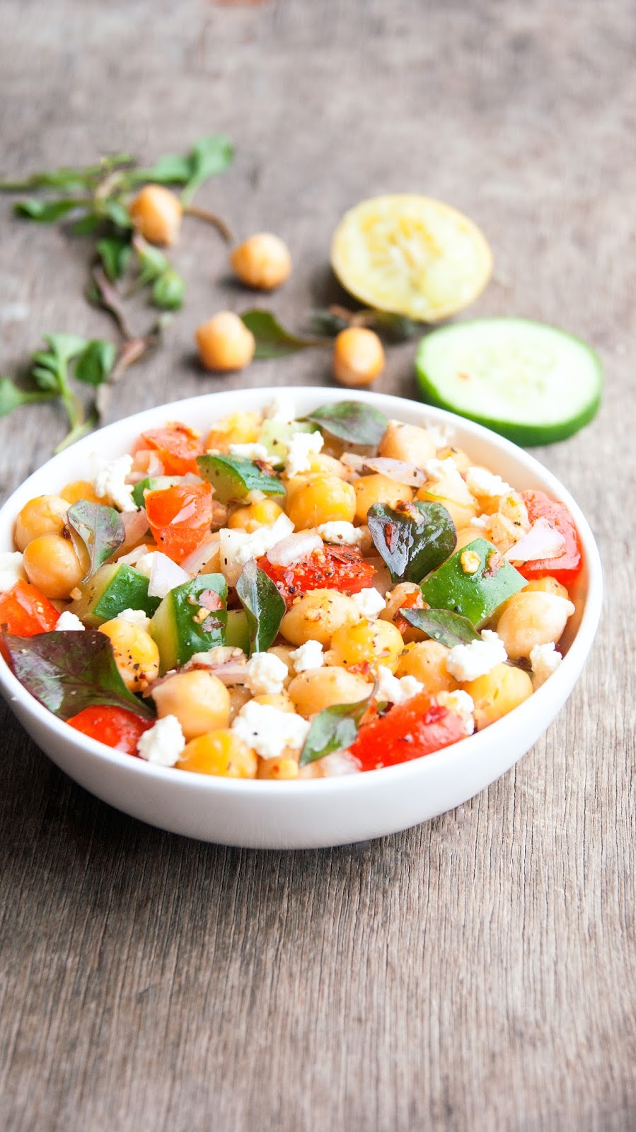 Always Hungry: Greek Style Chickpea Salad
