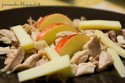 insalata di pollo con mele marlene e gruyèr