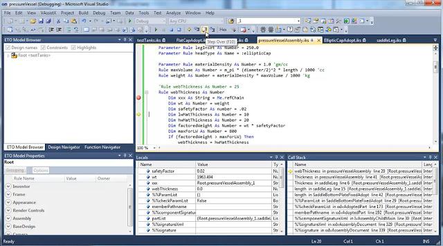 Проектирование методом программирования правил изменения параметров