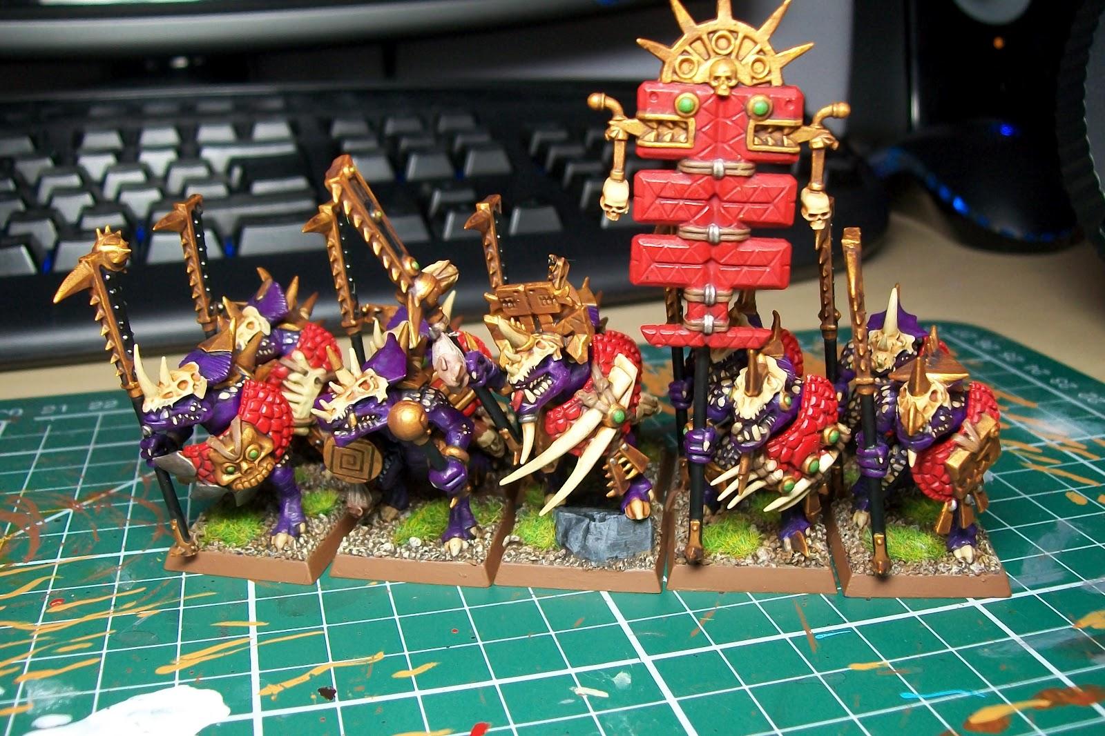 Lizardmen, Omega, Saurus, Temple, Warhammer Fantasy - Temple Guard ...