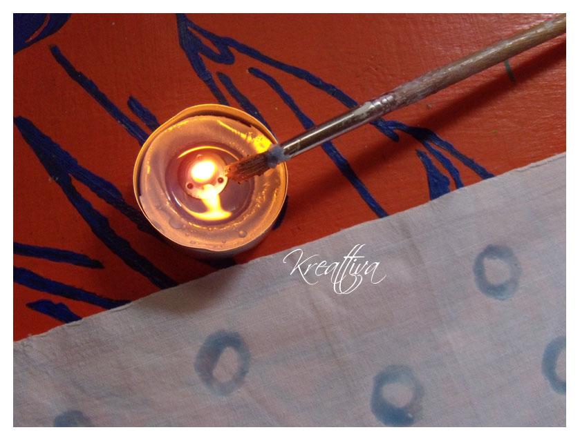 quadretti con tecnica batik casalingo