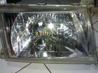 cara membersihkan head lamp mobil