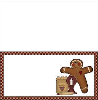 Gingerbread Bag Topper