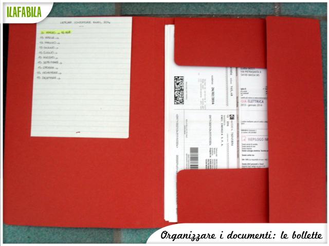 Organizzare i documenti: le Bollette