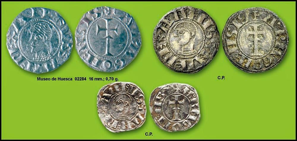 Dinero de Alfonso I de Aragón 1104-1134 Aragón. Fig.+12.+Alfonso+Aragonensis