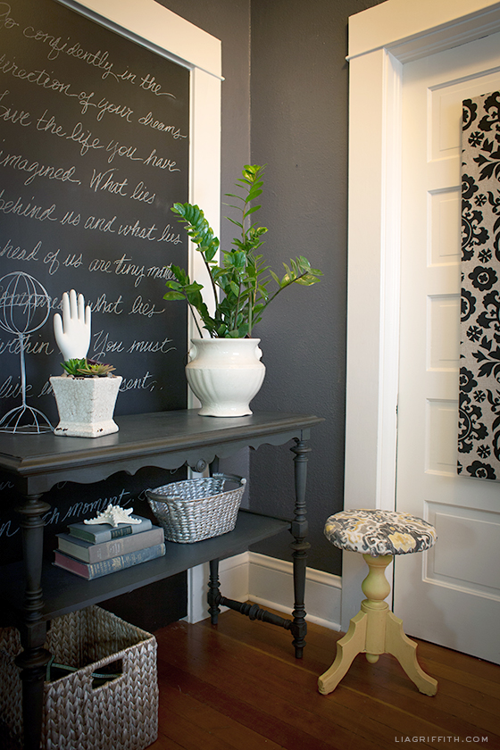 Black and charcoal gray paint colors for our home office for Chalk paint at sherwin williams